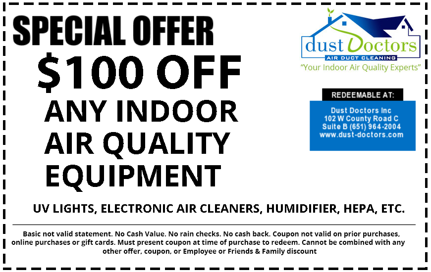$100 off indoor air quality equipment